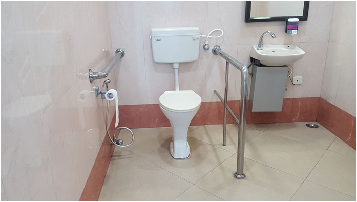 Accessible Toilets provided by Airport Authority of India at Airport terminals